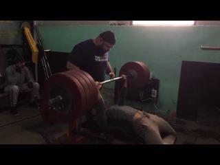 Giorgi Kavtaradze Bench Press 230 kg Training
