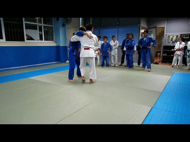 Judo Action Reaction Competitive uki goshi into tani otoshi by Takis Vakatasis 6th Dan