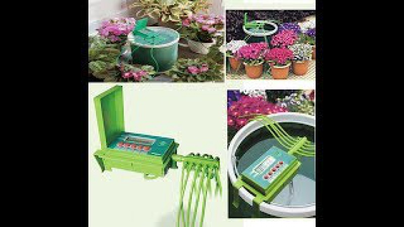 Уход за домашними растениями в отпуске. Автоматический полив цветов Green Helper GA 010