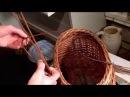 Плетение корзины с откидными ручками.Ч.2.