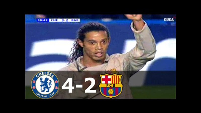 Chelsea vs Barcelona 4 2 UCL 2004 2005 Full Highlights English Commentary