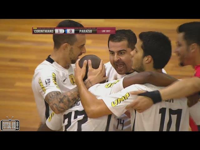 Gols Corinthians 4 x 1 Paraíso Oitavas de Final Jogo 2 Liga Nacional de Futsal 2017 29 09 2017
