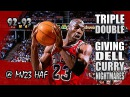 Michael Jordan Highlights vs Hornets (1992.12.29) - 28pts, MJ OWNING DELL CURRY!
