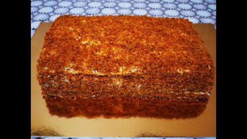 Торт Медовый АНГАРСКИЙ торт рецепт БЕЗ РАСКАТКИ КОРЖЕЙ простой доступный рецепт смотреть онлайн без регистрации