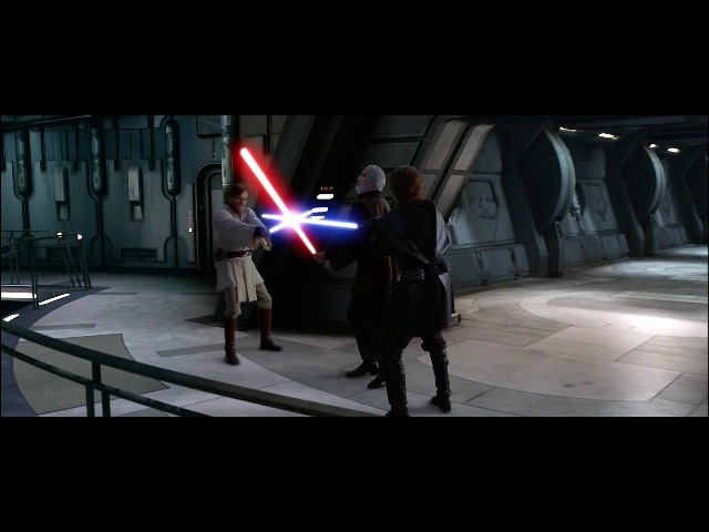 Битвы Star Wars: Энакин Скайуокер и Оби-Ван Кеноби против Дарт Тирануса (бой 2)