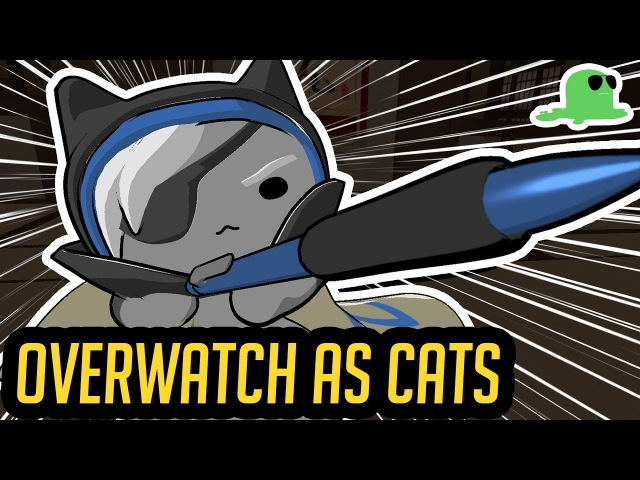 Katsuwatch UNLEASHED ft. Ana - (OVERWATCH CAT FIGHT ANIMATION)