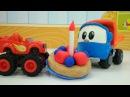 Вспыш и чудо машинки готовят Плей До пирог. Видео на английском языке.