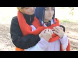 Backstage Naruto and Hinata Cosplay