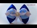 Бантик из ленты своими руками Мастер Класс/Satin Ribbon Bow/Laço de fitas/Ola ameS DIY