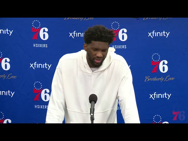 Joel Embiid Postgame Interview Raptors vs Sixers January 15 2018 2017 18 NBA Season