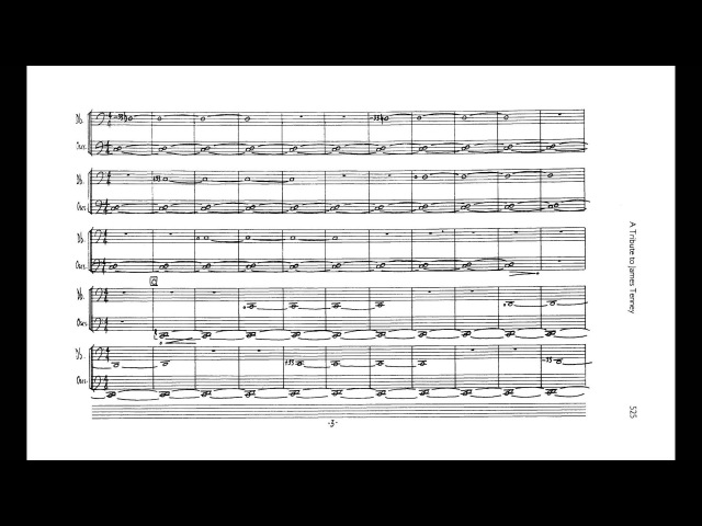 Alvin Lucier - Hommage to James Tenney (w/ score) (for double bass and pure wave oscillator) (1986)