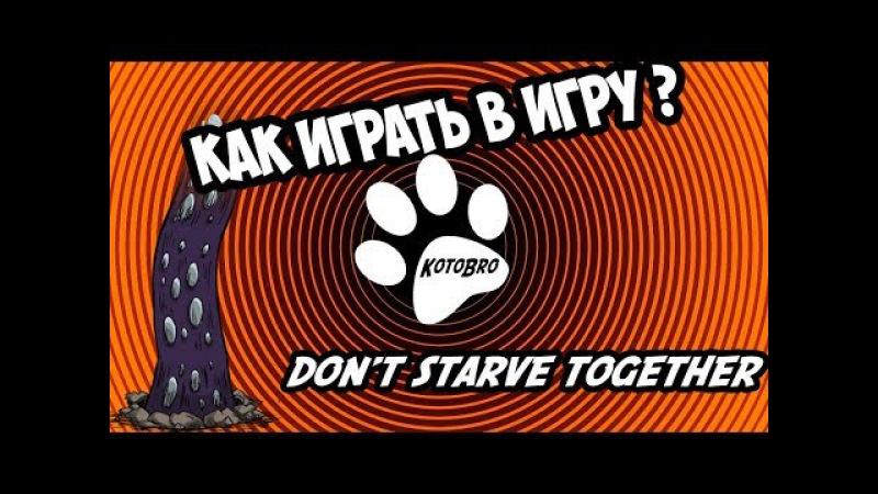 КАК ИГРАТЬ В ИГРУ Don't Starve Together Но кот Не знает так как у него лапки