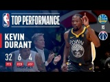 Kevin Durant Drops a Game-High 32 Pts vs. His Hometown Wizards February 28, 2018 #NBANews #NBA #Warriors #KevinDurant