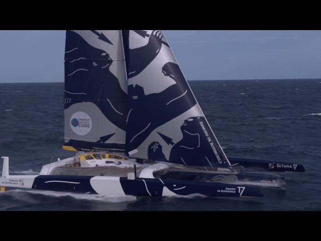 Le Maxi Trimaran Gitana 17 vole Le Havre Bretagne Tele
