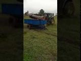 Recogiendo madera para el aserradero y evitar ca
