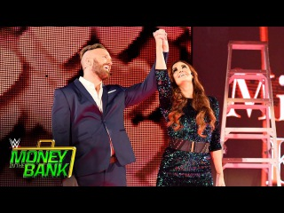 Mike & Maria Kanellis arrive with the power of love: WWE Money in the Bank 2017 (WWE Network)