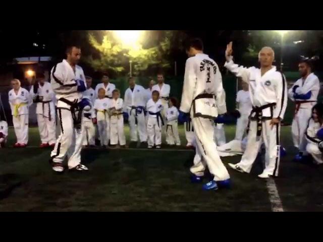 Master Vasilis Alexandris - Sparring class (Olympos ITF Taekwon-do Summer camp 2014)