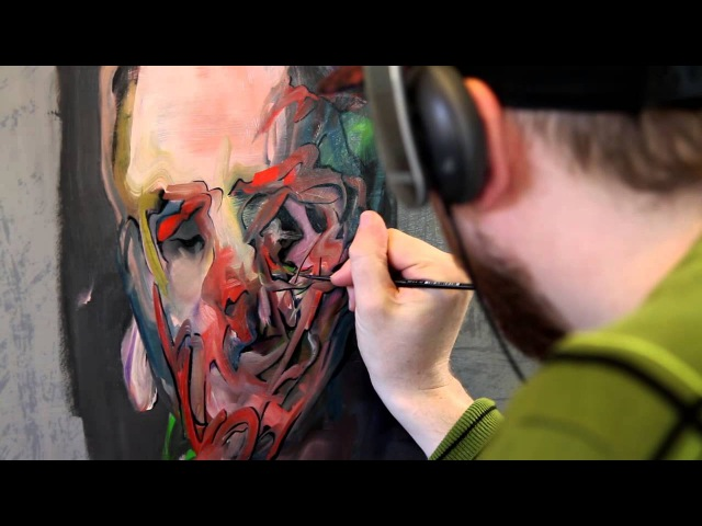 Oil Painting Timelapse Abstract Portraiture