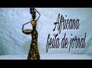 Africana feita de jornal