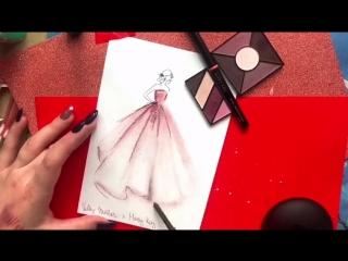 Рисунок косметикой Mary Kay