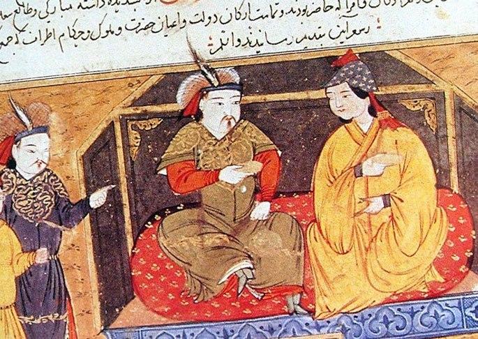 Хан Хулагу на престоле