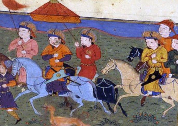 Орда монголов в походе
