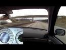 Mercedes E500 W211 387 PS testing 2 Cams on German Autobahn