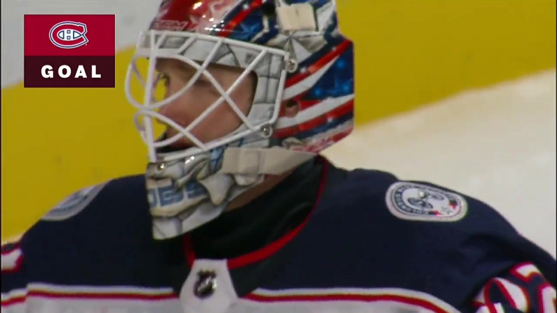 Brendan Gallagher streaks down wing, goes off post and in past Sergei Bobrovsky