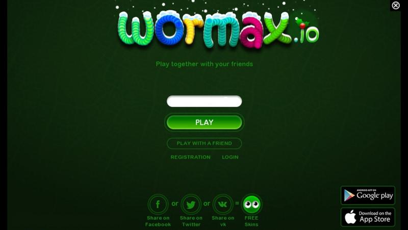 играл с братом в игру вету wormax.io (76