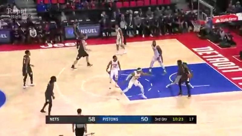 Детройт Пистонс 100-101 Бруклин Нетс . Обзор матча (Баскетбол. НБА) 22 января