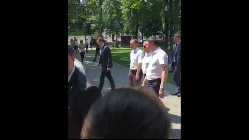 Медведев в сквере Дружбы народов