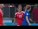 Исландия - Швейцария | Женский футбол | Чемпионат Европы 2017 | 2-й тур | Группа C | Полностью матч HD | 1 тайм