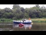 Спасение норвежской яхты на Днепре