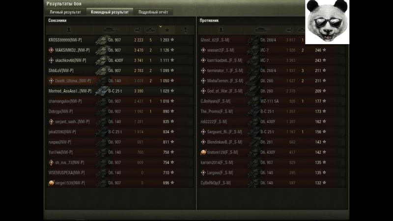 Победа NW-P vs F_S-M (Эрленберг)