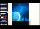 Drawing a surrealistic night sky scene Q A | Leontine van Vliet
