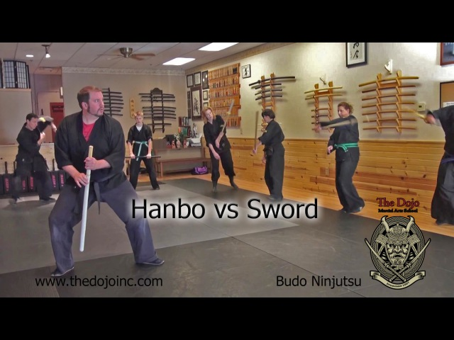 Hanbo vs Sword - Short Staff and Katana Techniques at The Dojo