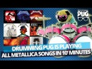 Drumming Pug - All Metallica songs in ten minutes
