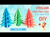 Christmas tree paper craft ORIGAMI 🎀 how to make christmas tree handmade #christmas #happynewyear