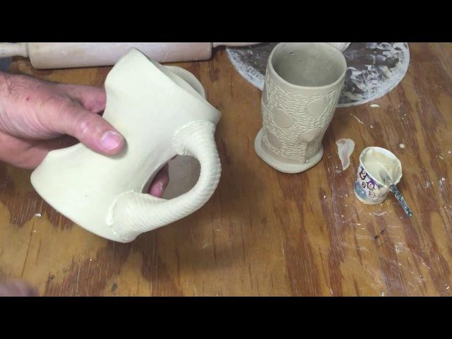 Handbuilt Cups Part IV Soft Slabs Hollow Handles