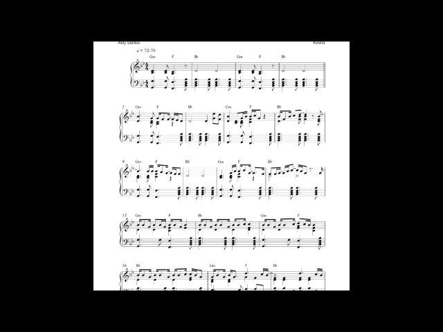 Praying - Kesha (Piano Cover) Sheet Music
