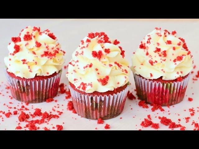 Капкейки Красный бархат ☆ Red velvet cupcakes