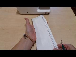 Как распустить распошивочный шов. disband a flat stitch