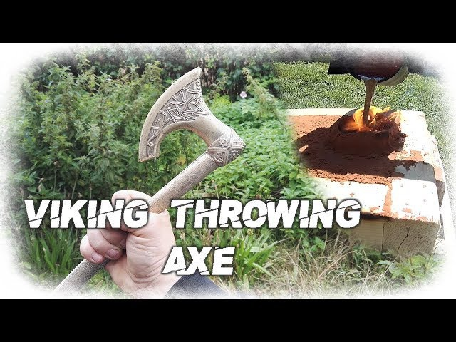 Brass Viking Throwing Axe Casting