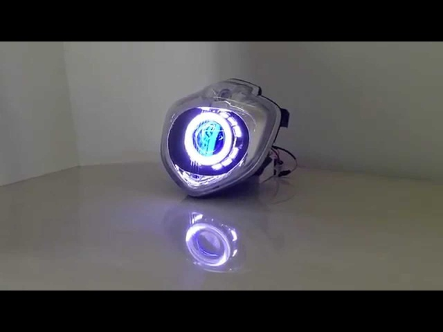 Yamaha FZ6 FZ6N LED Angel Eye HID Projector Headlight Assembly 2004-2009