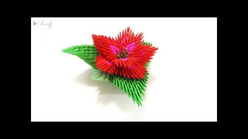 How to make 3d origami flower 2