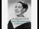Renata Tebaldi recital 3 avril 57