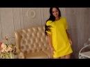 Желтое платье-кокон в стиле оверсайз П 079 от интернет-магазина Мода 37