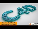 Animated Water-Text (Cinema 4D Tutorial)