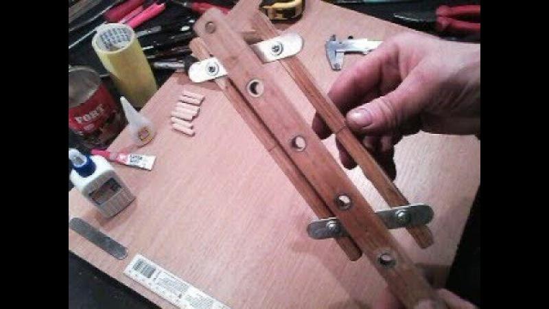 Реально простейший , самодельный кондуктор для шкантов , по сборке мебели без единого замера.