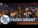 """Hugh Grant and Jimmy Chug a """"Shoey"""" (Drink Beer from Their Shoes)"""